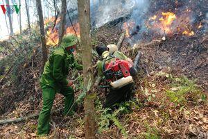 Hà Tĩnh đã khống chế được đám cháy trên núi Nầm