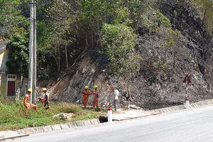 Cháy rừng tại Hương Sơn (Hà Tĩnh): Lưới điện được bảo vệ an toàn
