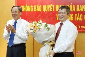 Hà Tĩnh có tân Phó Bí thư Tỉnh ủy