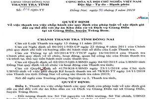 Đồng Nai: Thanh tra dự án Khu dân cư và dịch vụ Giang Điền