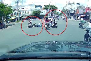 Vượt đèn đỏ, nữ tài xế va quệt vào xe máy gây tai nạn