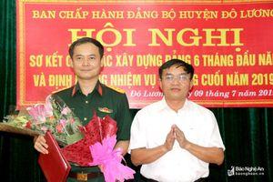 Công bố quyết định bổ sung Ủy viên Ban Thường vụ Huyện ủy Đô Lương