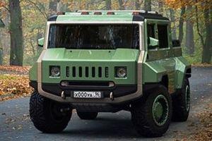 Độc đáo chiếc H-UAZ 'lai' giữa xe quân sự Nga và Hummer Mỹ