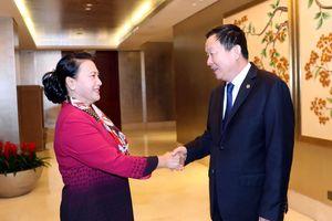 Chủ tịch Quốc hội Nguyễn Thị Kim Ngân tiếp Bí thư Thành ủy Tô Châu (Trung Quốc)