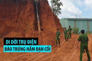Di dời trụ điện, đào trúng hầm đạn cối dưới chân đèo Bảo Lộc