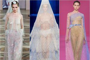 Váy xuyên thấu lên ngôi tại Tuần lễ thời trang Paris