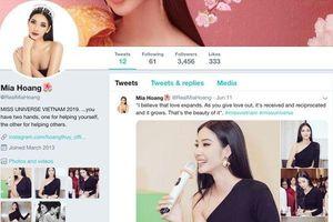Hoàng Thùy 'khốn đốn' với tài khoản Twitter giả mạo lấy danh xưng Miss Universe Vietnam