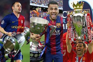 Dani Alves và top 10 ông vua danh hiệu của bóng đá thế giới