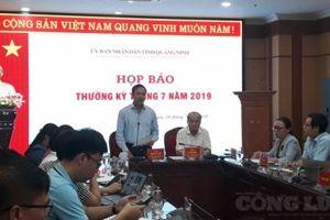 Quảng Ninh: Nhiều vấn đề 'nóng' tại buổi Họp báo thường kỳ tháng 7/2019