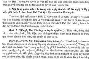 Sơn La: Làm rõ nhiều nội dung liên quan đến công tác cán bộ tại huyện Vân Hồ