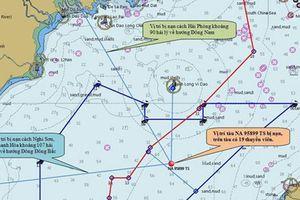 Tàu cá Nghệ An có 9 ngư dân mất tích, chìm ở độ sâu khoảng 60 m