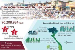 Dân số Việt Nam vượt mức 96 triệu người