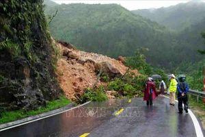 Sạt lở gây ách, chia cắt tạm thời trên một số tuyến quốc lộ qua tỉnh Lai Châu