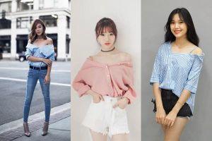 Biến tấu với áo sơ mi đơn điệu trở nên sức hút hơn đối với phái đẹp