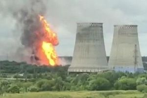 Nhà máy nhiệt điện ở Moscow bị nhấn chìm trong ngọn lửa cao 50m
