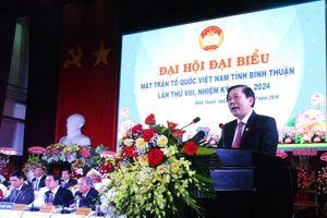 Bà Bố Thị Xuân Linh tái cử Chủ tịch Mặt trận Bình Thuận