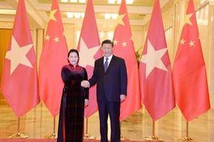 Tổng Bí thư, Chủ tịch nước Trung Quốc Tập Cận Bình tiếp Chủ tịch Quốc hội Nguyễn Thị Kim Ngân