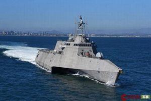 Siêu tàu chiến ba thân của Mỹ lần đầu tiên ghé châu Á