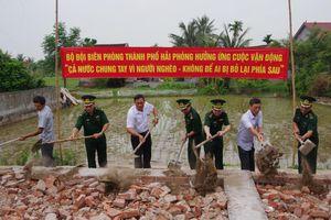 BĐBP hỗ trợ xây nhà cho hộ nghèo ở các xã biên giới