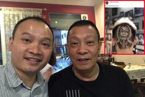 Con trai phản ứng bất ngờ khi fan khắc hình Lại Văn Sâm trên đầu