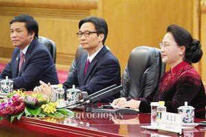 Chủ tịch Quốc hội Nguyễn Thị Kim Ngân hội kiến Tổng bí thư, Chủ tịch nước Tập Cận bình