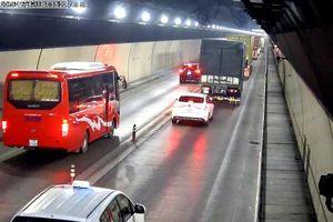 Nhiều tài xế 'giỡn mặt tử thần', lái xe vượt ẩu trong hầm Hải Vân
