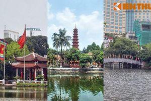 Kinh ngạc đền chùa linh thiêng nằm trên đảo độc nhất Hà Nội