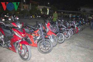 Ngăn chặn hơn 60 thanh niên ở 3 tỉnh thành tụ tập đua xe trái phép