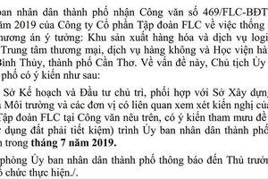 Tập đoàn FLC muốn xây học viện hàng không ở Cần Thơ