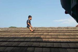 Bé trai trèo lên mái nhà 'cố thủ' suốt 2 tiếng vì lý do bất ngờ này