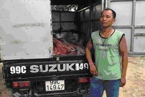 Ô tô vận chuyển 910kg thịt lợn chết đã bốc mùi hôi thối đi tiêu thụ