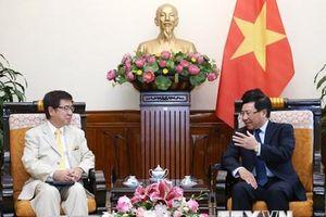 PTT Phạm Bình Minh tiếp Trợ lý Chánh Văn phòng Nội các Nhật Bản
