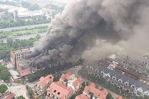Xảy cháy dữ dội ở khu biệt thự gần Thiên đường Bảo Sơn