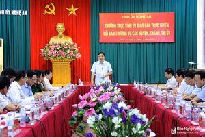 Bí thư Tỉnh ủy yêu cầu các địa phương chuẩn bị tốt nội dung cho đại hội đảng các cấp