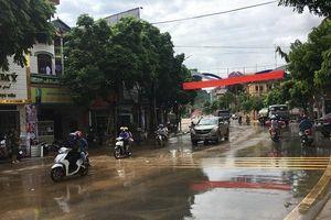Mưa lớn, thành phố Sơn La ngập úng cục bộ