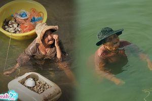 Cụ bà 85 tuổi ngâm mình dưới nước cả ngày bắt hải sản bán để nuôi cháu gái 61 tuổi bị tâm thần