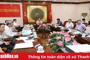 Thường trực Tỉnh ủy cho ý kiến vào kế hoạch tổ chức kỷ niệm 60 năm kết nghĩa hai tỉnh Thanh Hóa - Quảng Nam