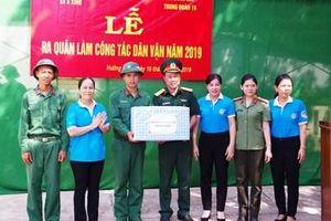 Trung đoàn 19, Sư đoàn 968 làm công tác dân vận tại Quảng Trị