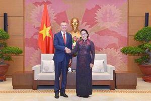Chủ tịch Quốc hội Nguyễn Thị Kim Ngân tiếp Bộ trưởng Ngoại giao Cộng hòa Latvia