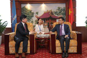 Tổng giám đốc Petrovietnam Lê Mạnh Hùng tiếp lãnh đạo Tập đoàn Doosan (Hàn Quốc)