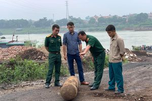 Vật thể được phát hiện tại Việt Trì (Phú Thọ) không phải... bom