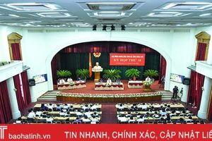 HĐND tỉnh Hà Tĩnh Khóa XVII hoàn thành nội dung Kỳ họp thứ 10