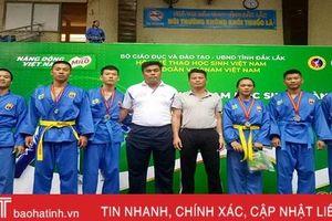 Hà Tĩnh giành 4 huy chương tại Giải Vovinam học sinh toàn quốc