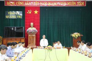 Trưởng Ban Kinh tế Trung ương Nguyễn Văn Bình làm việc tại tỉnh Quảng Trị