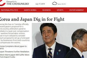 Hàn Quốc chỉ trích một số báo đưa tin sai lệch về khủng hoảng Nhật-Hàn