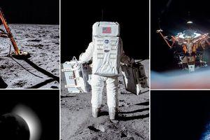 Những bức ảnh lịch sử về bước chân đầu tiên của con người trên Mặt trăng cách đây đúng 50 năm