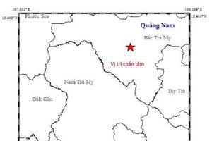 Động đất 3,8 độ Richter tại miền núi Quảng Nam