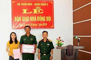 Bộ Tham mưu Quân đoàn 3 trao tặng 'Nhà đồng đội' cho quân nhân khó khăn về nhà ở