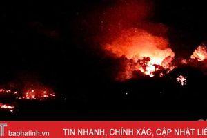 Cháy rừng trong đêm ở xã Kỳ Hà