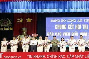 Chung kết Hội thi Báo cáo viên giỏi Công an tỉnh năm 2019
